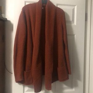 Merona rust / burnt orange thick cardigan sweater